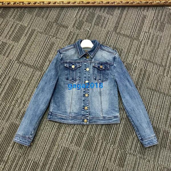 High end mulheres meninas curto denim jaqueta bomber patchwork único breasted mangas compridas blusa casaco design de moda outerwear de luxo tops
