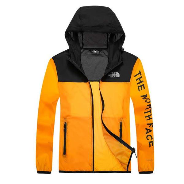 Unisex Rain Jacket Outdoor Casual Hoodies Windproof Waterproof Sunscreen Face hooded Coats Skin Anti UV Raincoats 5876