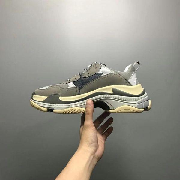 2019 zapatillas de deporte con plataforma en línea 2018 Zapatos de lujo de diseñador Triple-S Zapatillas bajas Zapatillas casuales para hombres y mujeres Zapatillas deportivas 36-45