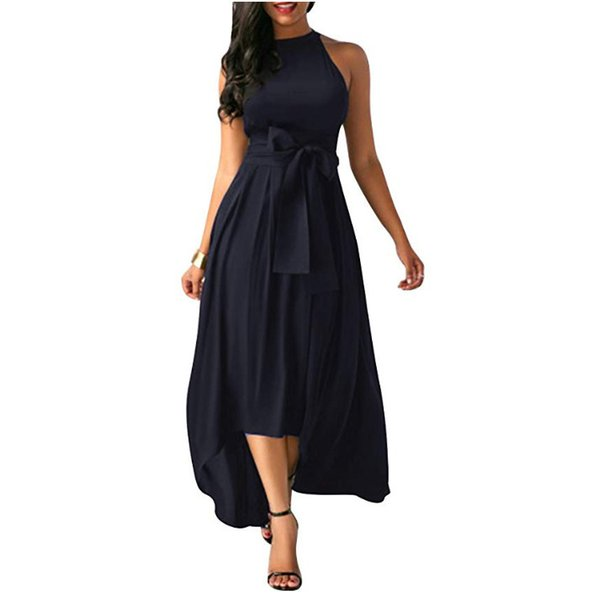 2019 speed sells Amazon Europe and the United States new women's bow belt dress short paragraph shawl two-piecenew