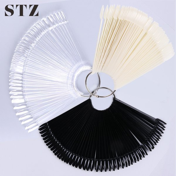 Stz 50/32/24 Tips/set False Nails Fan Display Acrylic Fake Nail Art Tips For Gel Polish Practice Tools Manicure Accessories A23 SH190724