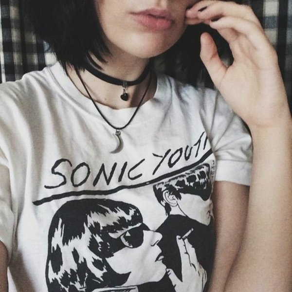 68dbeaee70848 Women'S Tee Sonic Youth Album Cover Unisex Vintage Rock T Shirt Women  Grunge Vogue Tops Tees Short Sleeved Round Collar Funny Tshirt Tumblr  Design 1 T ...