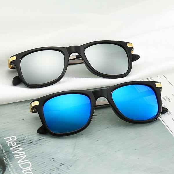 New Men's Brand Sunglasses Hot Fashion Adumbral Glasses for Mens Womens Polarized Stylish Full Frame Glasses UV400 6 Style with Box
