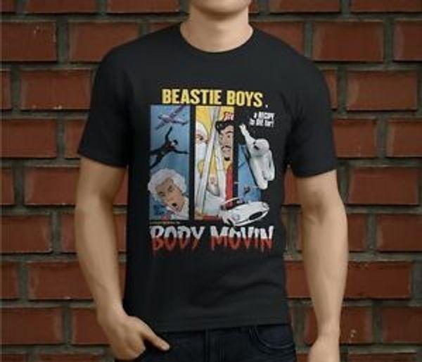 Hot BEASTIE BOYS Рэп Хип-Хоп Мужчины 039 с BlaRock Футболка Размер S 3XL
