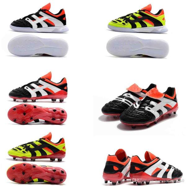 super PREDATOR ACCELERATOR Electricidad TR Tacos de fútbol Hombre Botas de fútbol se convierte en 98 Acelerador de entrenamiento de tobillo alto Zapatos FG Soccer