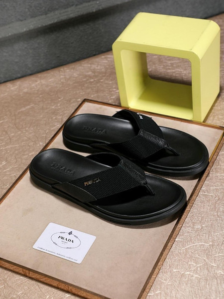 2019 classic men's version of the foot woven fiber vamp thickening widening daily flip flops