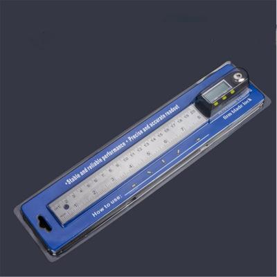 top popular 0-200mm 8 inches Stainless Steel Digital Protractor angle ruler Angle Finder angle measuring tool + Reversible Reading Hold Func 2020