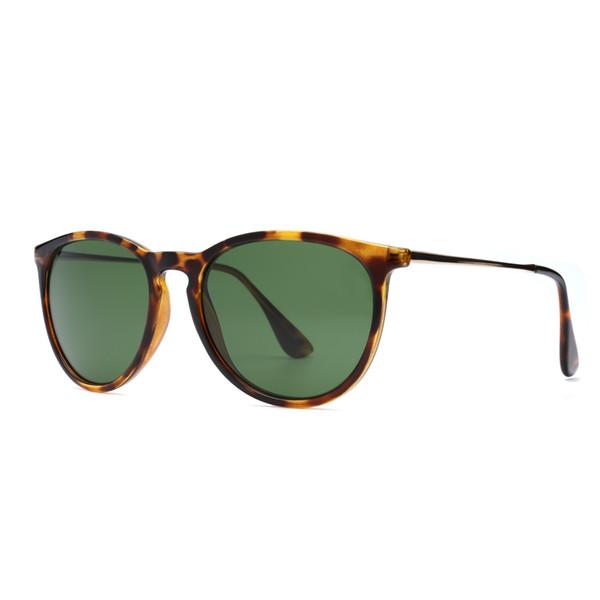 Luxury-Top Quality Discolour Glass Lens Sunglasses Men Women Circle Sun Glasses Brand Designer High Quality Eyewear