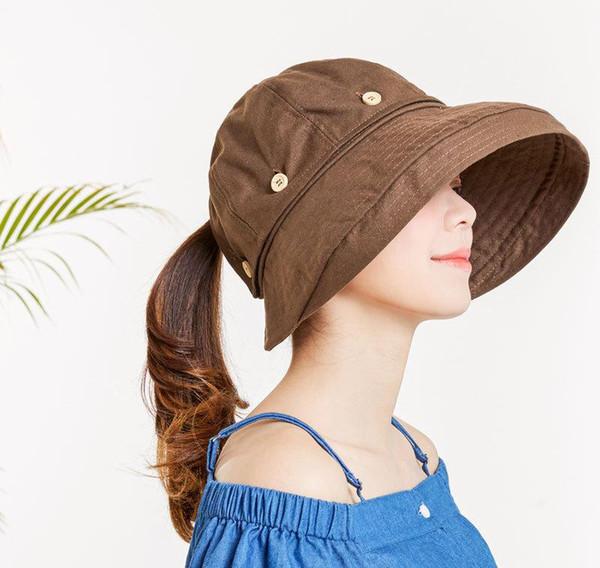 Hot Women Reversible Sun Hat UV Protection Wide Brim Floppy Summer Visor