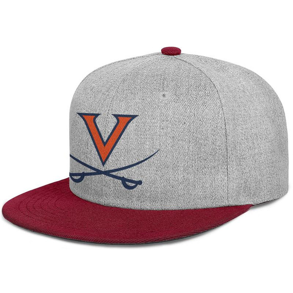 Virginia Cavaliers Basketball logo burgundy mens and women snap back,flat brimcap ball cool designer sports fashion hats