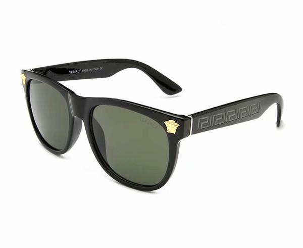Best Selling Men Women Fashion Sunglasses Golden Green Round Metal Frame 50mm Glass Lenses Designers Sun Glasses Excellent quality
