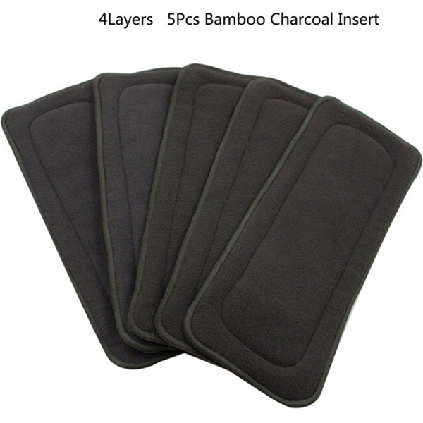 Reusable Baby Diapers Bamboo Charcoal Washable Diapers Baby Nappies Couche Lavable Insert One Size for Newborn Infant Care