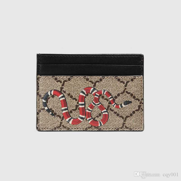top popular Top quality Paris style luxury designer classic famous men women famous genuine leather gy credit card holder mini wallet 2021
