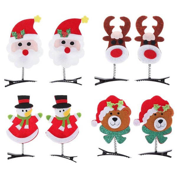 2Pcs/lot Christmas Hair Clips Hairpins Xmas Festival Party Headwear for Kids Adult Headbands Christmas Decoration Gifts