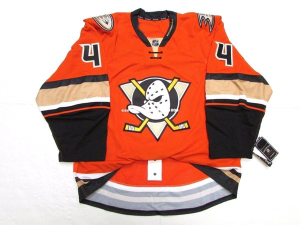 Cheap custom CAM FOWLER ANAHEIM DUCKS THIRD ORANGE EDGE 2.0 7287 JERSEY stitch add any number any name Mens Hockey Jersey XS-6XL