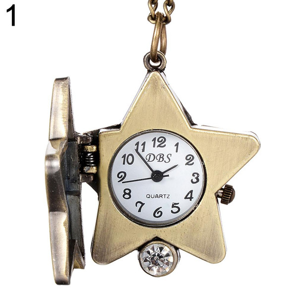 Fashion Top Brand Luxury Vintage Lucky Star Turtle Shape Quartz Pocket Watch Necklace for Women Girl Gift new