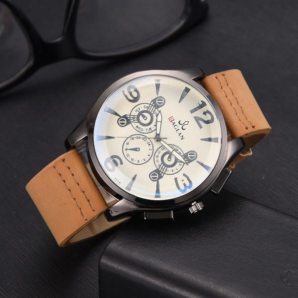 Compre De Hombres Ray Hombre Reloj Blu 2019 Cuarzo Alta Vidrio Pulsera Cuero Raglan Relogio Calidad HI2EDeYW9