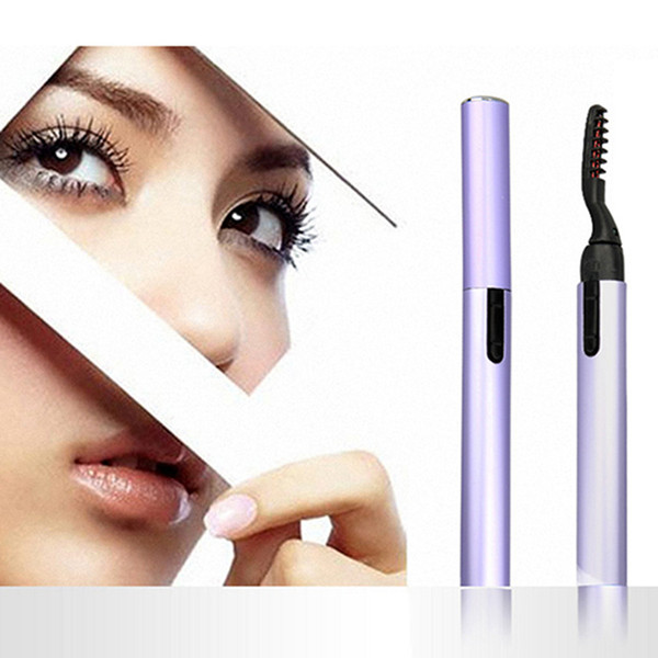 Electric Perm Heated Eyelash Curler Portable Pen Style Long Lasting Eye lash Curler Makeup Curling Tools For Women RRA1138
