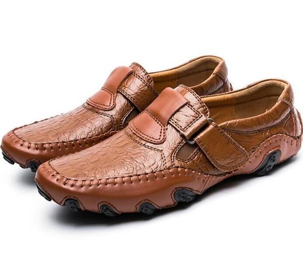 mocasines de cuero, de gran tamaño mocasines de cuero con suela suave zapatos de cuero hechos a mano, zapatos ligeros de conducción de ocio para hombre de Oxford zapatos casuales G5.3