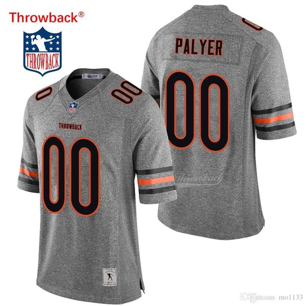 new product c1532 58845 2019 Throwback Jersey Men'S Chicago American Football Jerseys Customized  Jersey Any Name Number Colour Gray Fast Shipping From Mo1133, $64.98 | ...