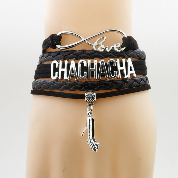 Infinity Love Chachacha Bracelets High Heels Charm Chachacha Dancer Gift Chachacha Decorations Bracelet Gift For Woman And Man