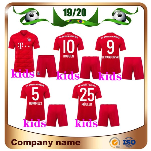 Grosshandel 19 20 Bayern Munchen Kinder Trikot 2019 Heimrot 25 Muller 11 James Fussballtrikots Lewandowski Robben Kinder Fussballtrikot Von Lxx199198