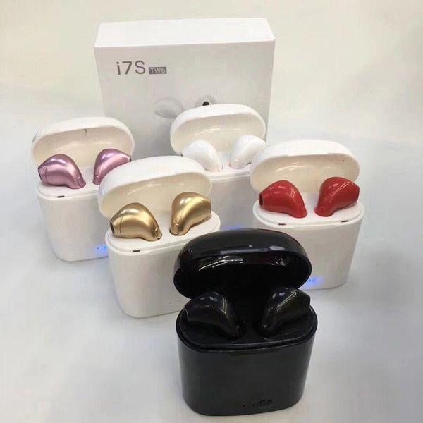 HBQ I7 I7S TWS TWINS Mini Auricolari Blutooth con ricarica Cuffie senza fili Cuffie con microfono Stereo 5.0 non Air Pod per Iphone