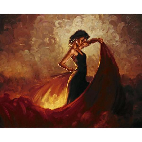 Modern art paintings dancing girl flamenco dancer Sevilla hand-painted home decor