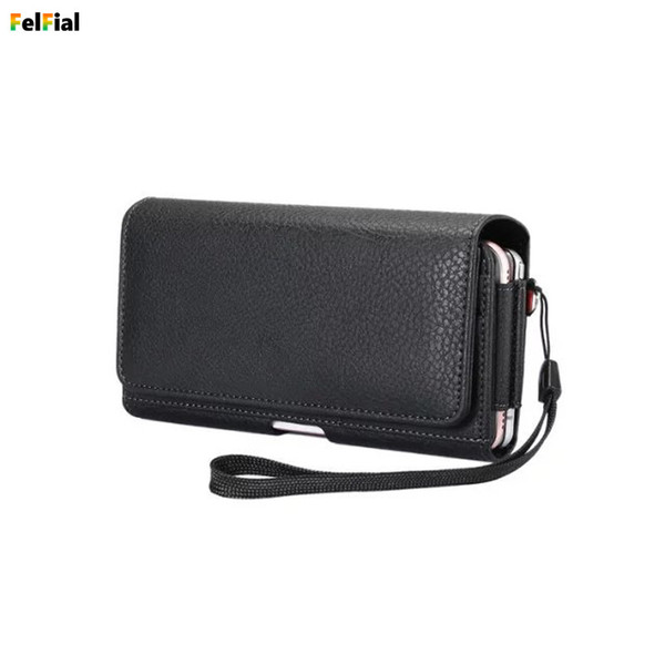2019 Universal Belt Holster Leather Mobile Phone Case Pouch for Apple iPhone8/8Plus/7/7Plus Waist Bag for iPhone6/6Plus/S8 S8+
