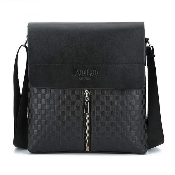 Plaid Men Crossbody Bag Small PU de cuero pequeños bolsos Casual Flap Brand Bolsas de hombro para hombre Messenger Bag NPL023