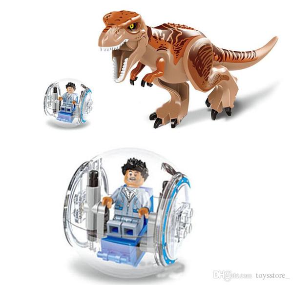 Jouets pour enfants Jouets d'intelligence pour enfants Puzzle pour enfants assemblant des blocs de construction orthographiques jouets éducatifs Monde des dinosaures Tyrannosaure