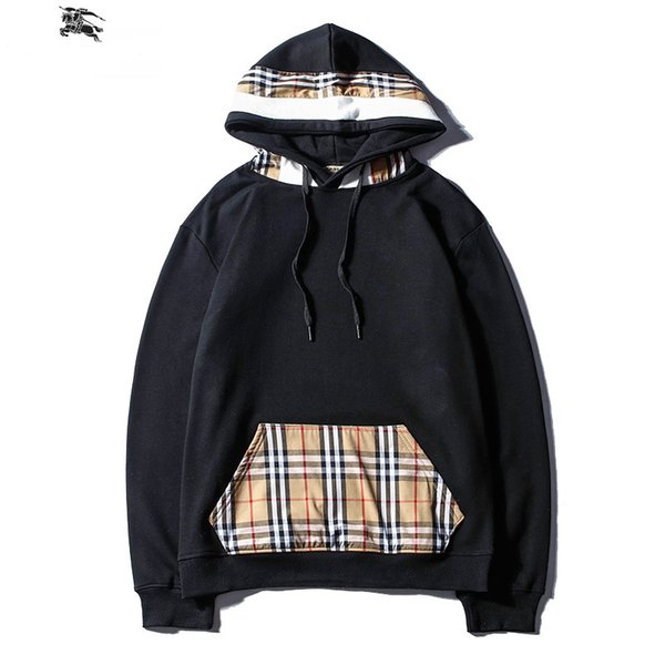 Fashion Hoodie for Couple Brand Designer Hoodies Long Sleeve Autumn Winter Men Women Clothes Classic Lattice Design