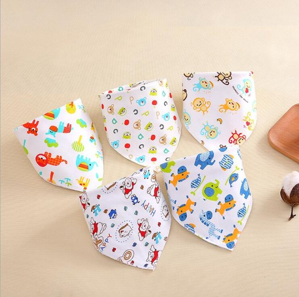 1pcs Baby Bibs Cotton Newborn Feeding Nursing Bandana Cloths Baby Scarf 4colour