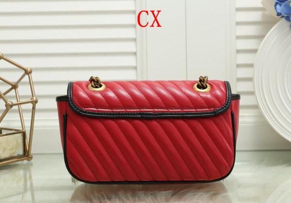 Alta qualità dei progettisti borse borse delle donne dell'unità di elaborazione Leather Chain di modo piccolo oro della traversa del sacchetto corpo borsa a tracolla Messenger Bags 26x7x18cm