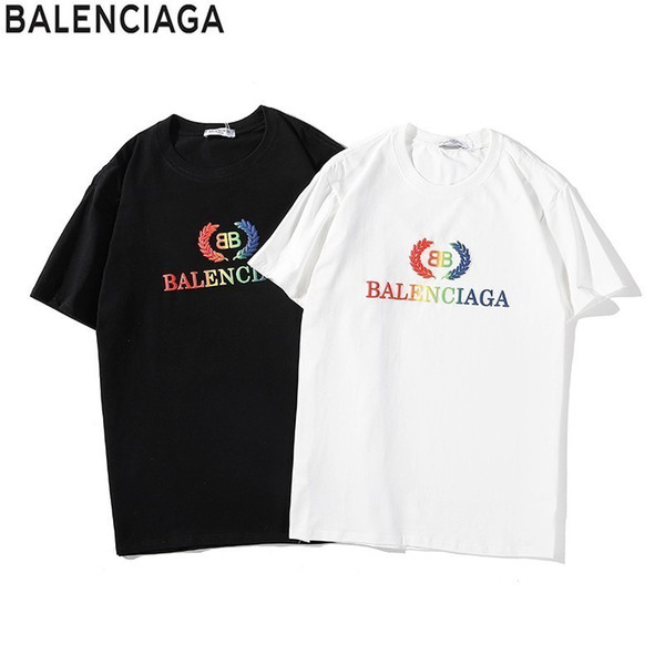 Men's New Short Sleeve Chest Color Gradient Print Couple's Summer T-shirt Can't Afford The Ball To Shrinks