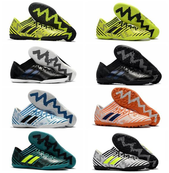 2018 mens soccer cleats purecontrol turf tango nemeziz 17 indoor soccer shoes cheap football boots Nemeziz Tango 17.3 IC TF Original Grey