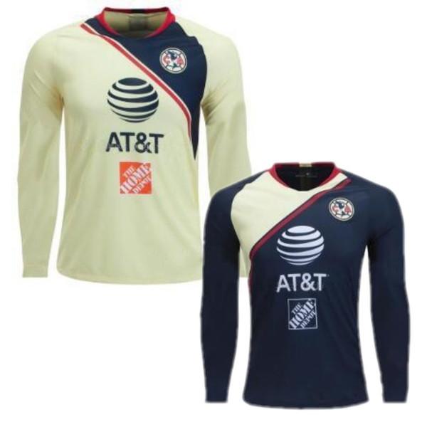 buy online 84134 0a078 2019 18/19 Club America Long Sleeve Soccer Jersey Mexico Club Soccer  Uniform 2019 Club America Full Sleeve Home Away Football Shirt From ...