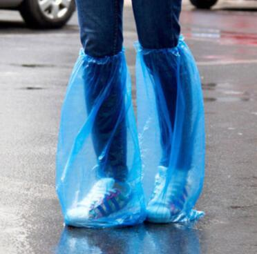 Rain Shoes Covers Disposable Long Shoes Cover Non Slip Waterproof Boot Cover Extra Thick Plastic Overshoe Outdoor Gadgets CCA11017 500pairs