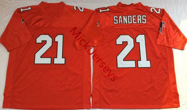 21 Deion Sanders Atlanta Полный Красный