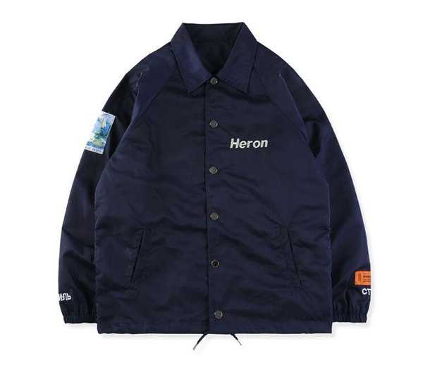 2019 New Brand HERON PRESTON Jackets Winter Men Clothing Long Sleeve Black Navy Designer Casual Jackets Coats Size S-XL