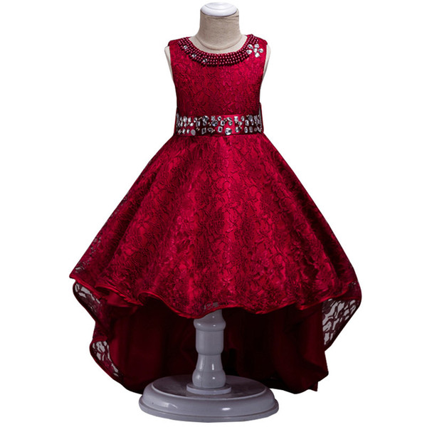 2019 Teenager Girls Summer Dress Kids Dresses For Girls Bridesmaid Princess Dress Prom Evening Party Wedding Dress 14 10 12 Year