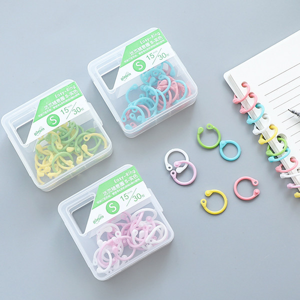 Binding Combs & Spines 2 Boxes Creative Plastic Multi-Function Circle Ring DIY Albums Loose-Leaf Book Binder Hoops Office Binding Supplies