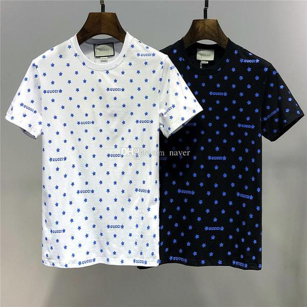 2019 Summer New Arrival High Quality Designer Clothing Women's Men's T-Shirts Fashion Print Tees Size M-3XL 6727