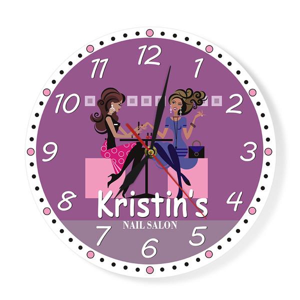 Nail Tech Modern Wall Clock Beauty Salon Spa Art Decor Printed Personalised Wall Clock Manicurist Salon Custom Technician Gift