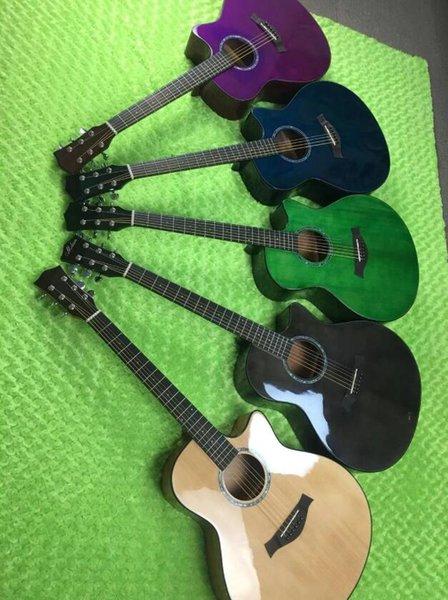 ücretsiz kargo özel 41 inçlik ladin şeftali çiçeği parlak tek tek gitar, sürtme kaplama akustik gitarın çeşitli