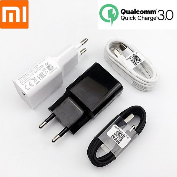 Origianl Xiaomi Mi9 Быстрое зарядное QC3.0 18W ЕС зарядное устройство адаптер для Ми а2 плюс 8 6 6х се ми ми х 3 1м Тип C Кабель для передачи данных