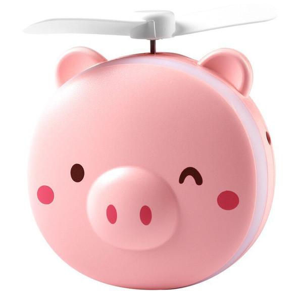 МИНИ-вентилятор Портативный USB зарядка для свиньи Вентилятор Fill Light Подходит для семейного путешествия Альпинизм Розовый