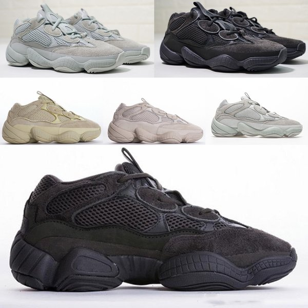 Adidas Yeezy 500 Desert Rat 2019 confortevole Salt Blush Super Moon Giallo Utility Black Desert Rat 500 Top Quality Uomo Donna Running Sport Sneaker Shoes