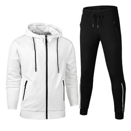 2019 diseñador de los chándales de las chaquetas con capucha 2 del color puro remiendo Marca Kits chaquetas deportivas Active + Running conjunto de pantalón casual LJJ98313