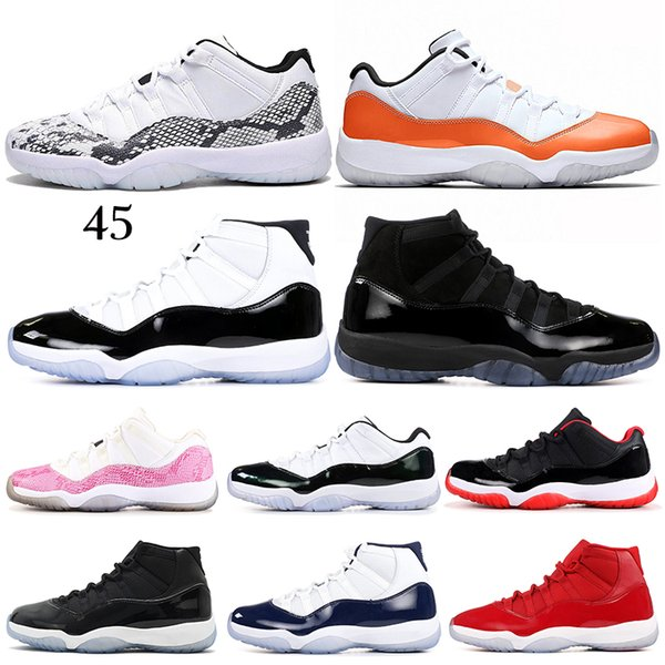 classic 11 Concord High 45 11 XI 11s Cap and Gown Win Like 96 Chicago Platinum Tint bred Basketball Shoes sports Sneakers